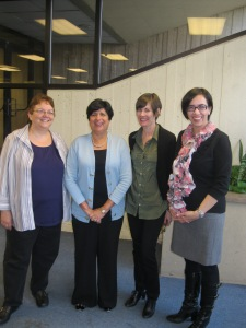 At Hofstra University´s International Scholar Forum, with Professors Debbie Goodman, Theresa McGinnis, and Andrea García